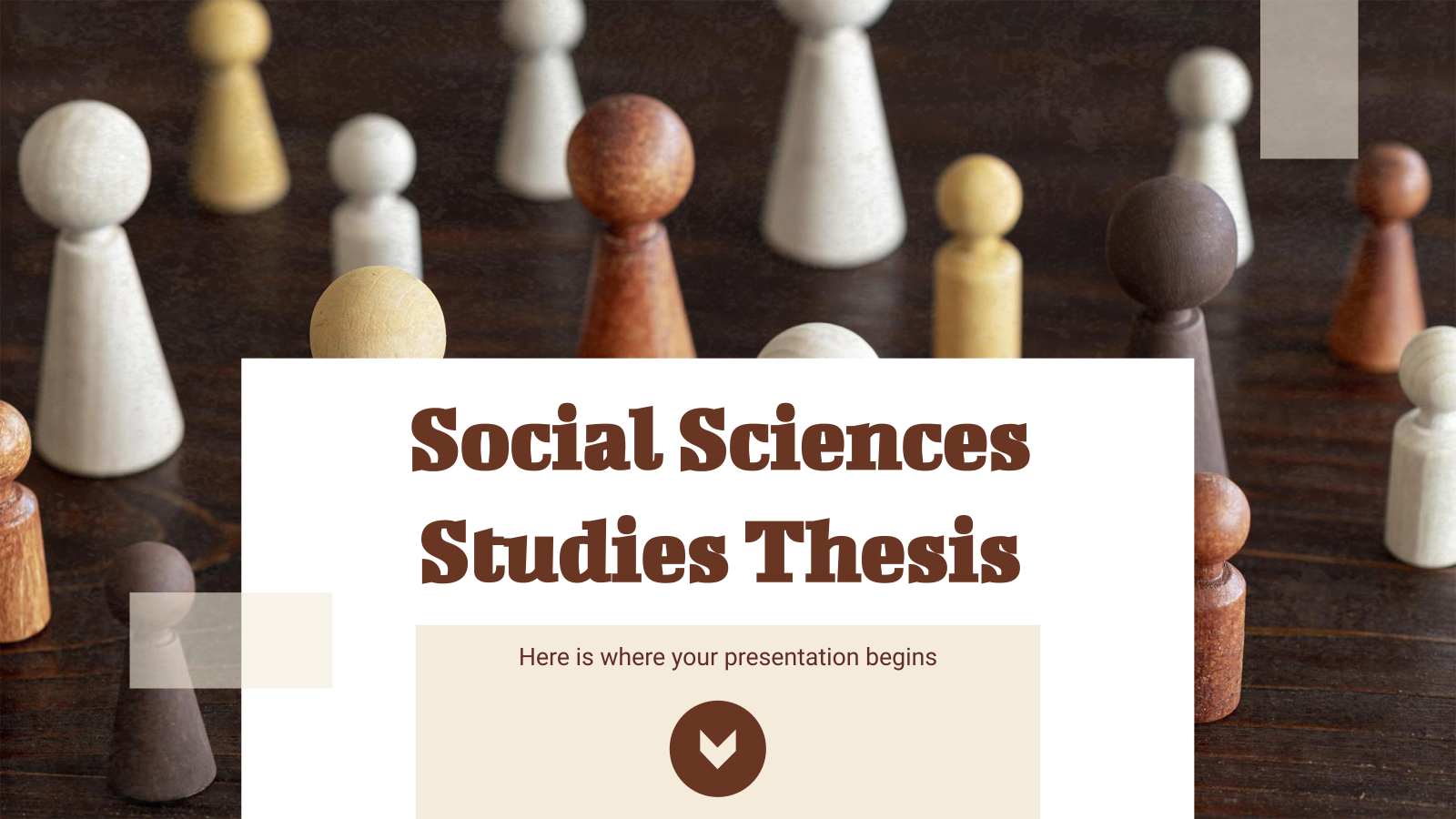 Social Sciences Studies Thesis presentation template