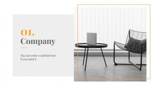 Minimal Interior Design Guide presentation template