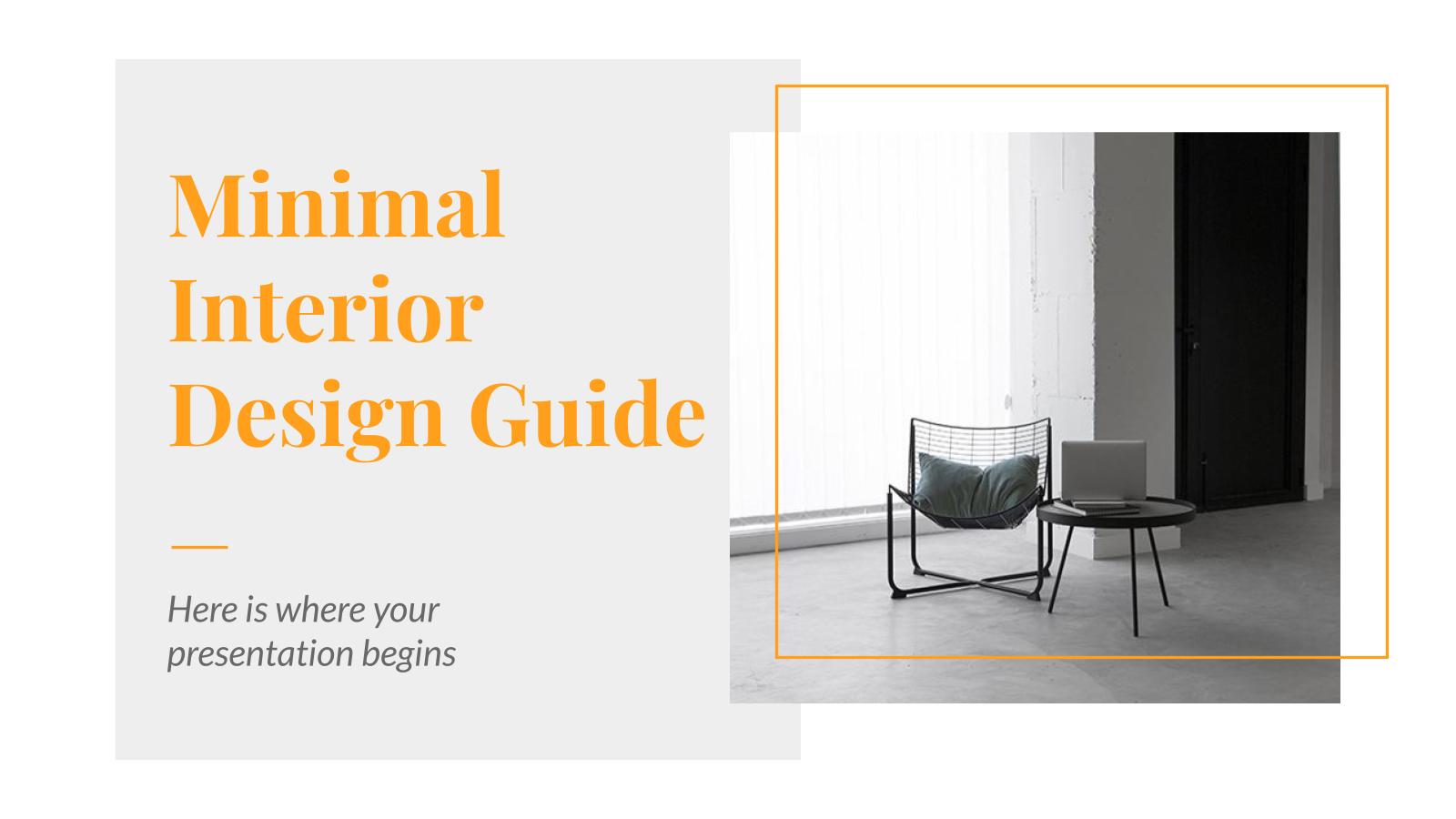Modelo de apresentação Guia minimalista de design de interiores
