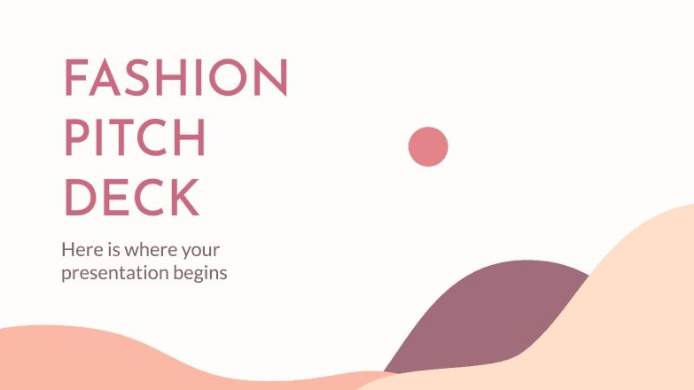 Plantilla de presentación Pitch deck para moda