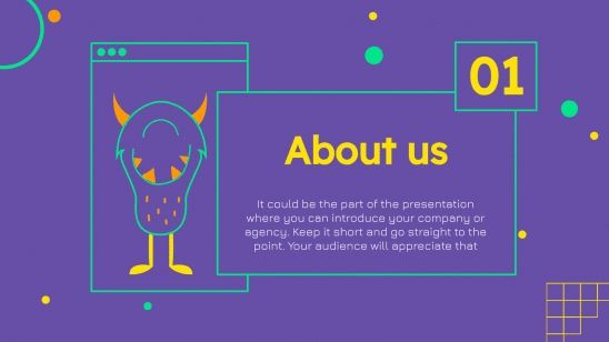 Monsters Agency presentation template