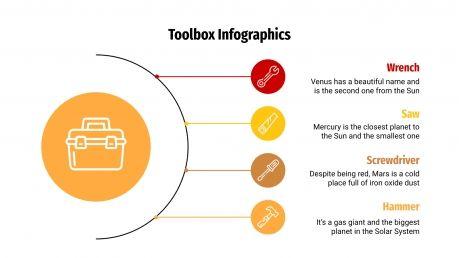 Plantilla de presentación Infografías de caja de herramientas