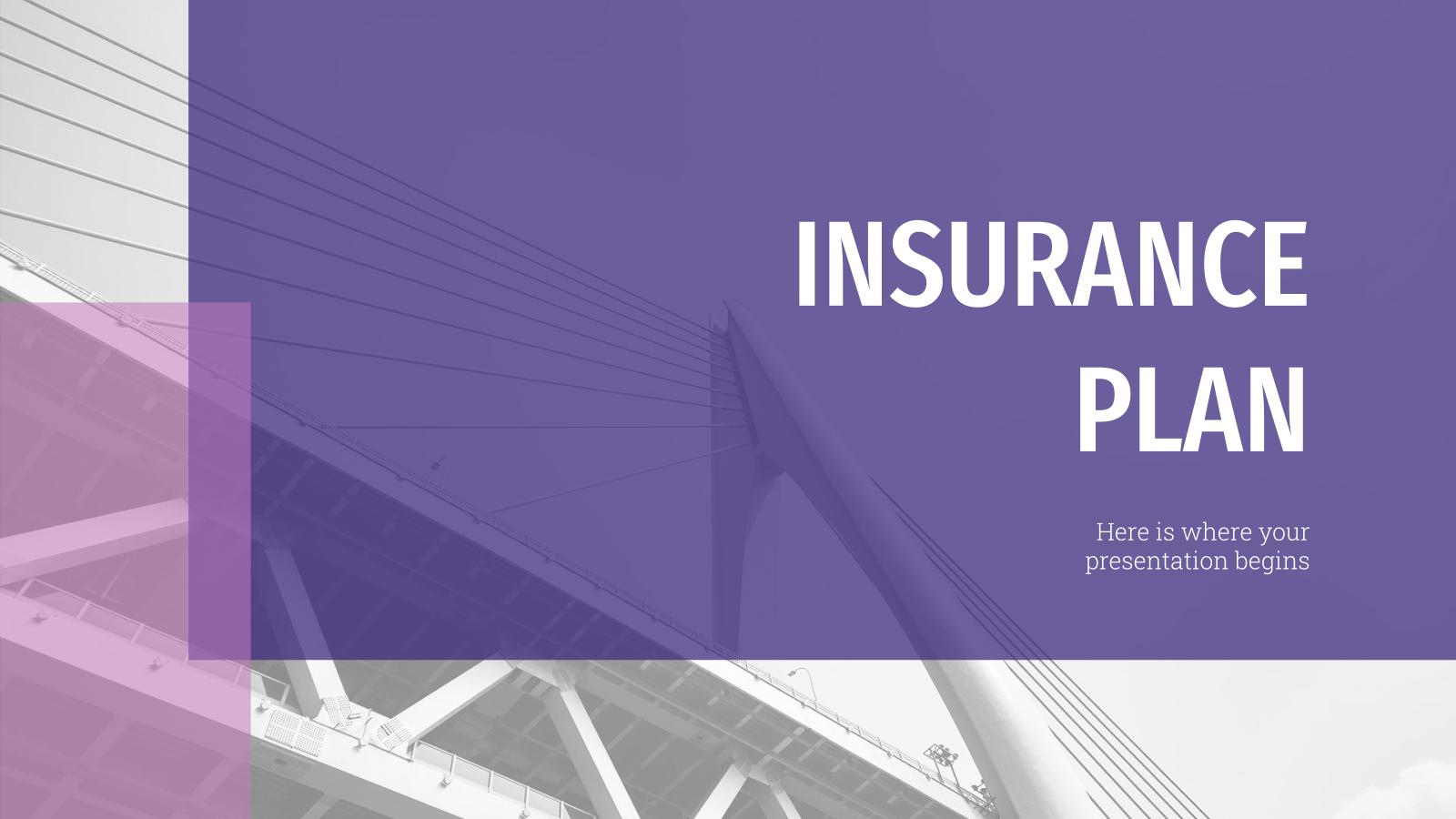Plantilla de presentación Plan de seguros
