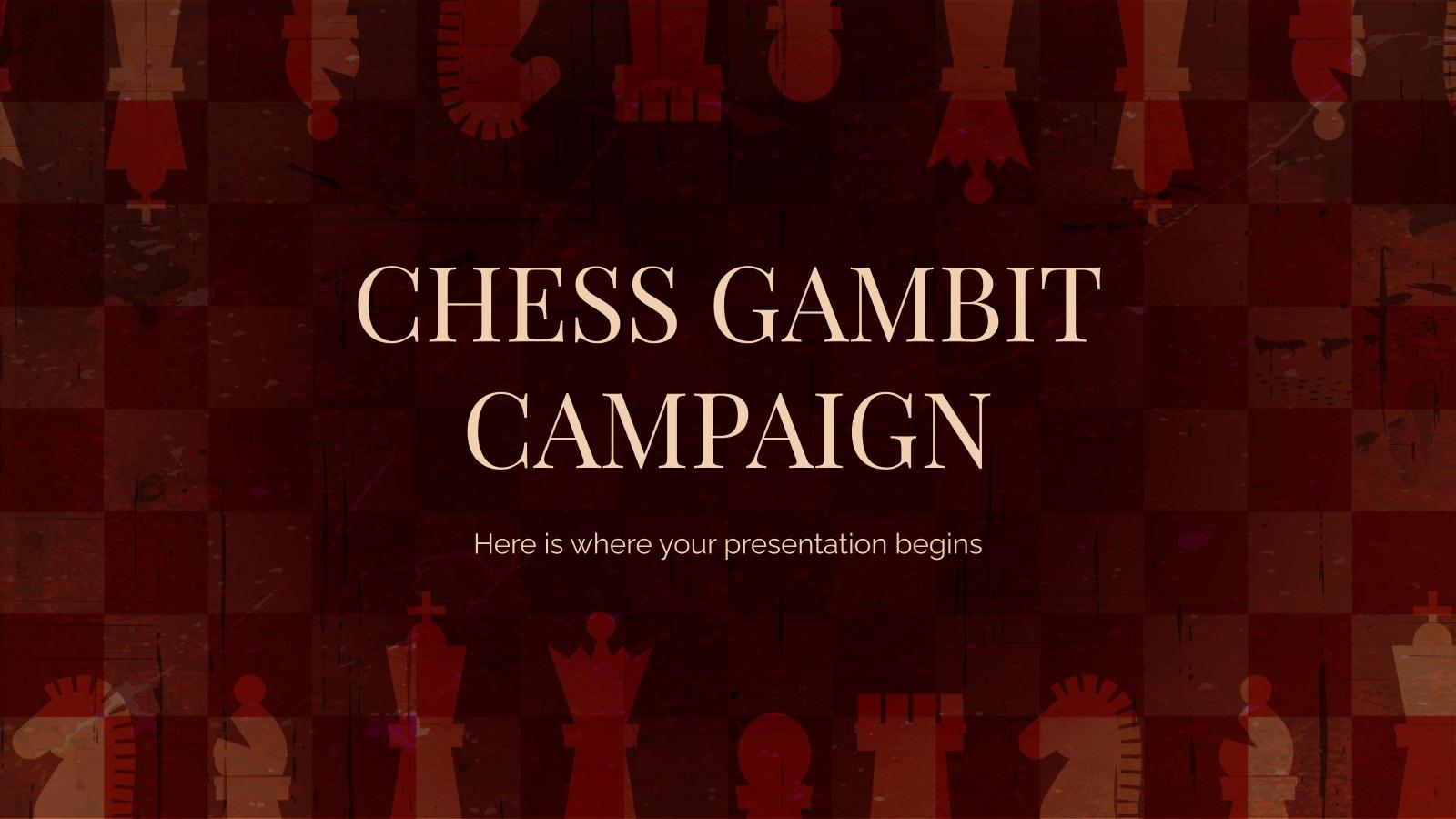 Plantilla de presentación Campaña gambito de ajedrez