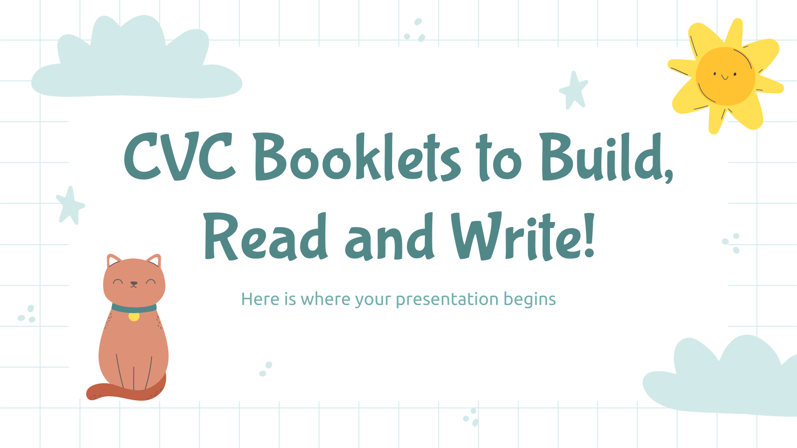 CVC Booklets to Build, Read and Write! presentation template