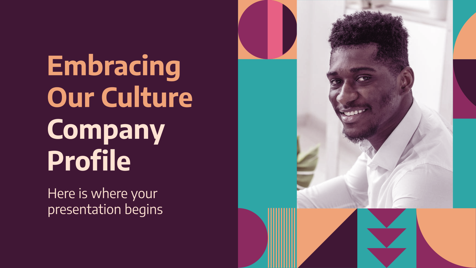 Plantilla de presentación Cultura empresarial moderna