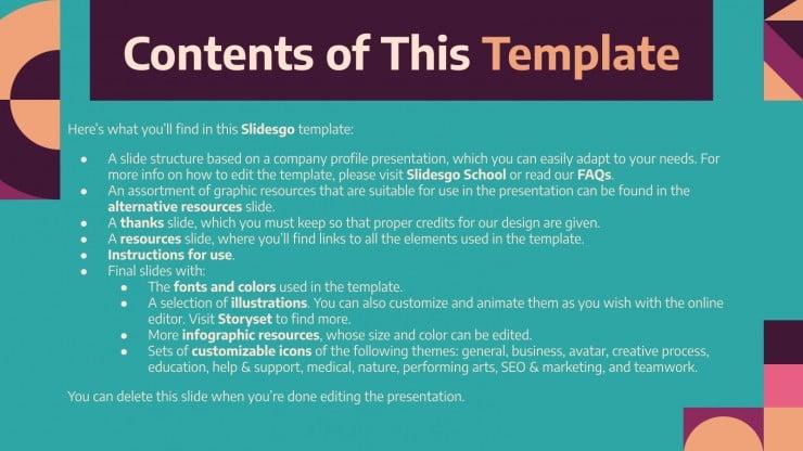 Embracing Our Culture Company Profile presentation template