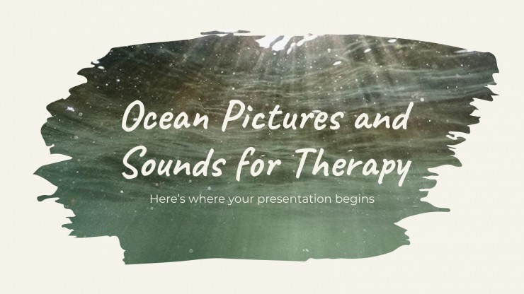 Ocean Pictures and Sounds for Therapy presentation template