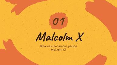 Malcolm X Biography presentation template