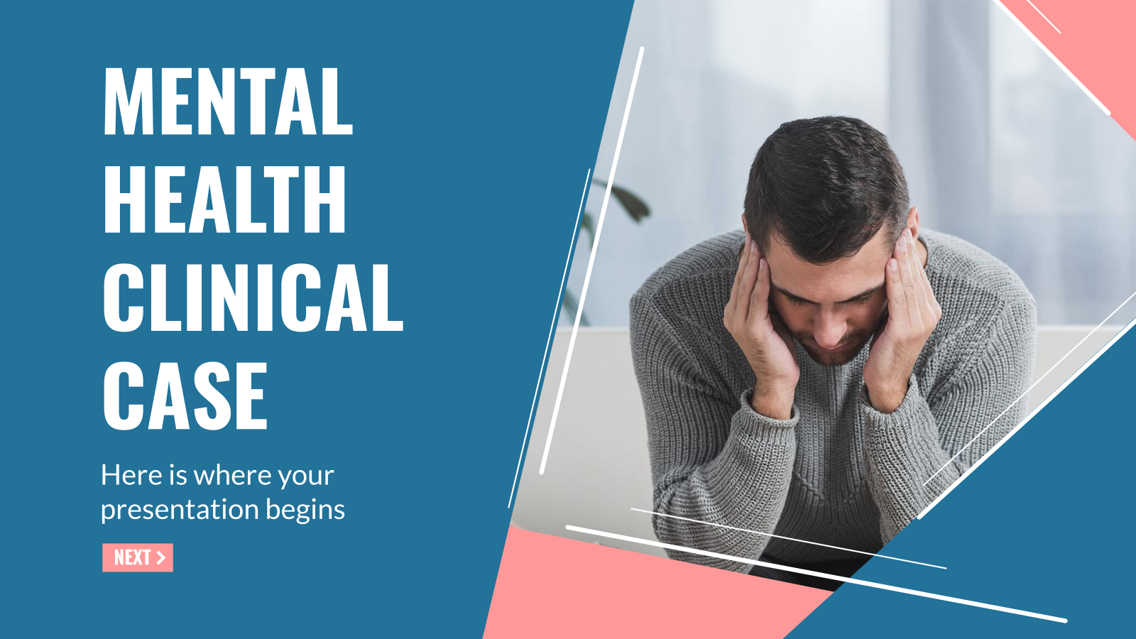 Mental Health Clinical Case presentation template