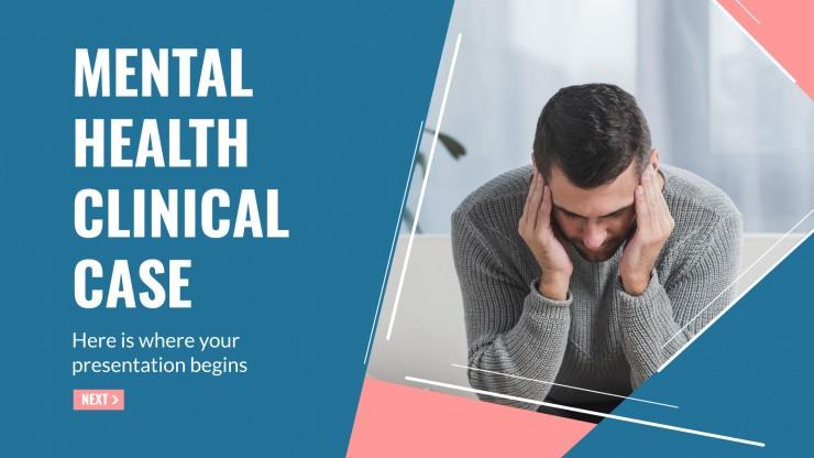 Plantilla de presentación Caso clínico: salud mental