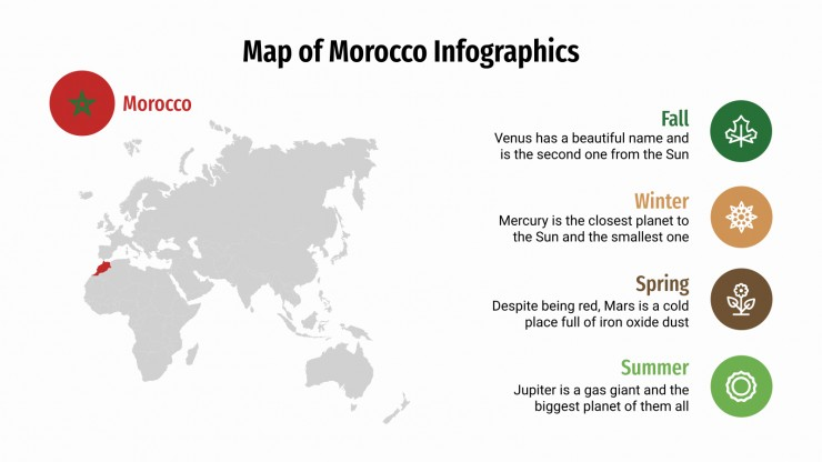 Map of Morocco Infographics presentation template