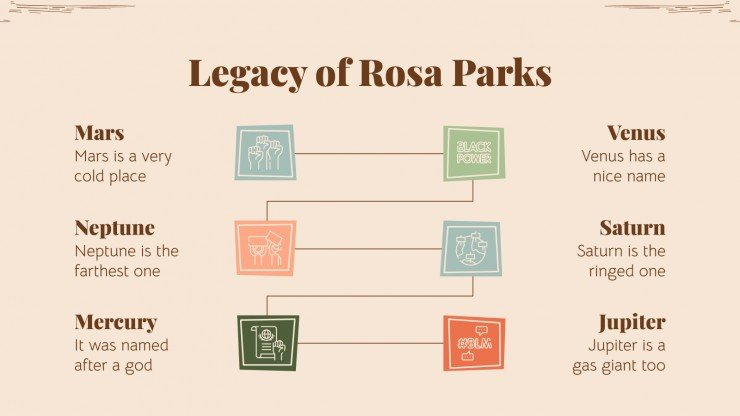 Rosa Parks Biography presentation template