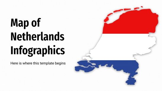 Map of Netherlands Infographics presentation template