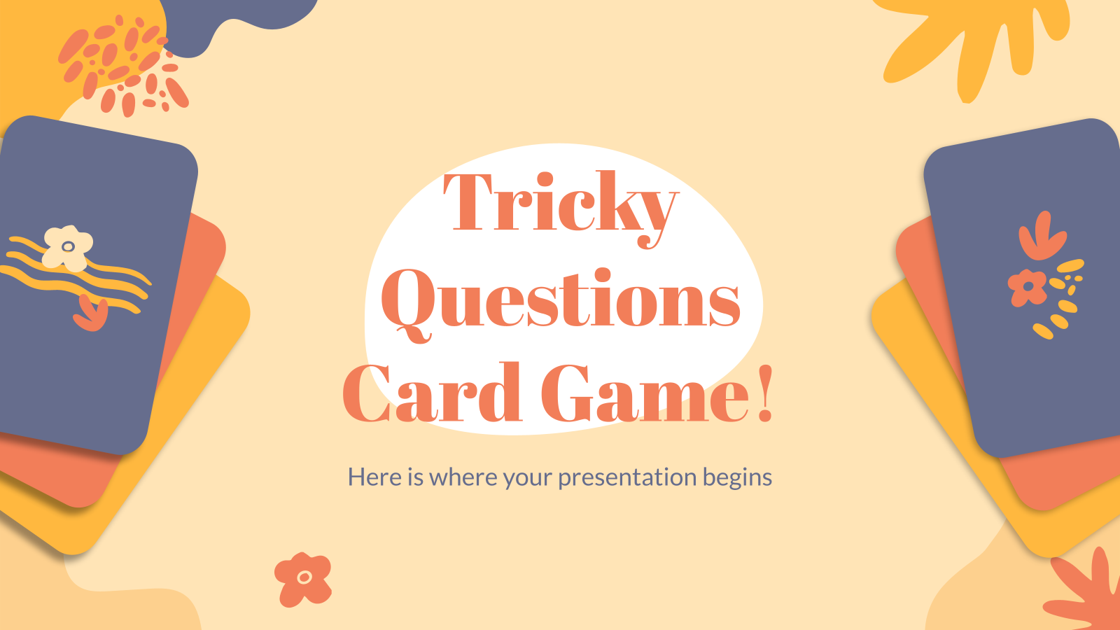 Tricky Questions Card Game! presentation template