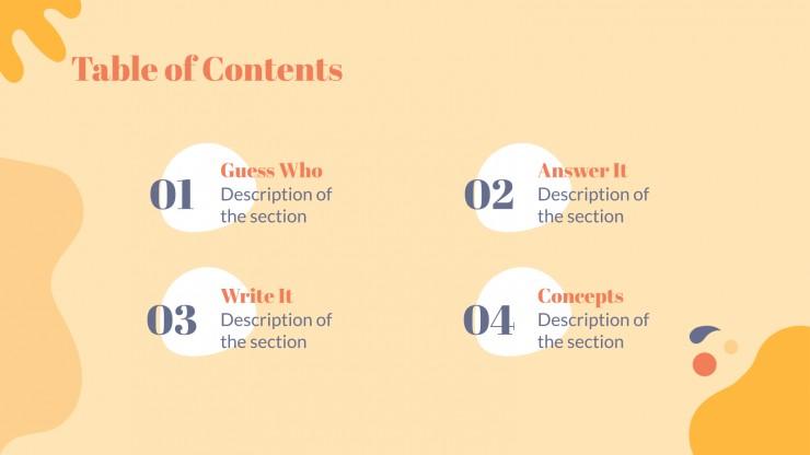 Plantilla de presentación Juego de cartas de preguntas trampa