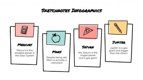 Sketchnotes Infographics presentation template