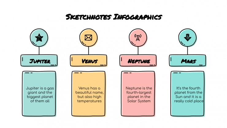 Infographies sur les croquis : Modèles de présentation