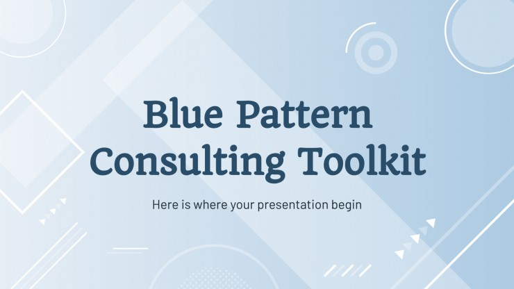 Blue Pattern Consulting Toolkit presentation template