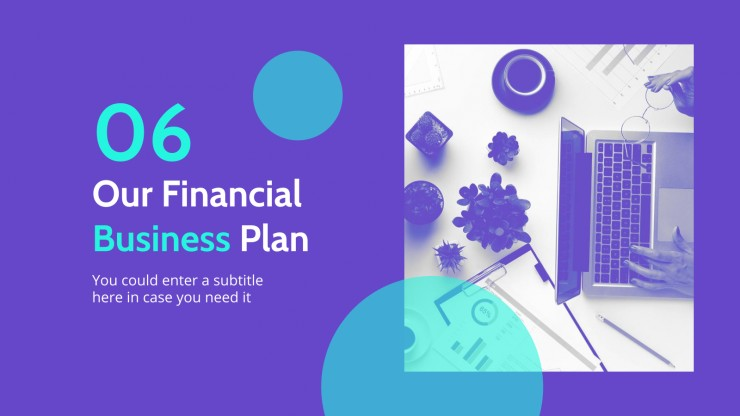 Working from Home Business Plan presentation template