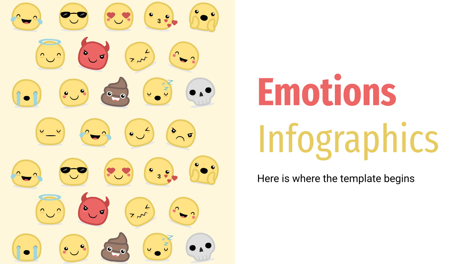 Emotions Infographics presentation template