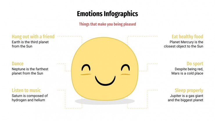 Plantilla de presentación Infografías de emociones