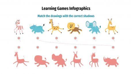 Plantilla de presentación Infografías con juegos educativos