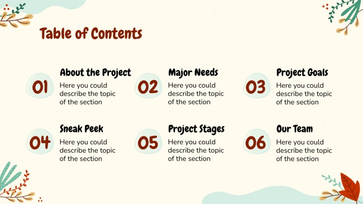 Reforestation Project Proposal presentation template