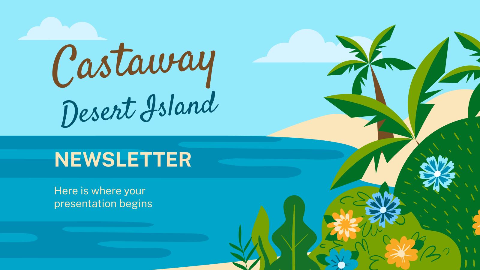 Castaway in a Desert Island presentation template
