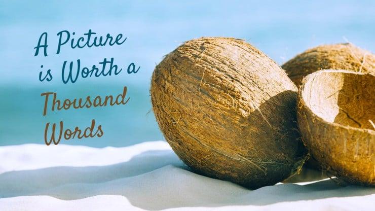 Plantilla de presentación Náufrago en una isla desierta