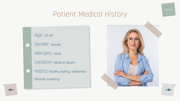 Interactive Notes for Clinical Cases presentation template