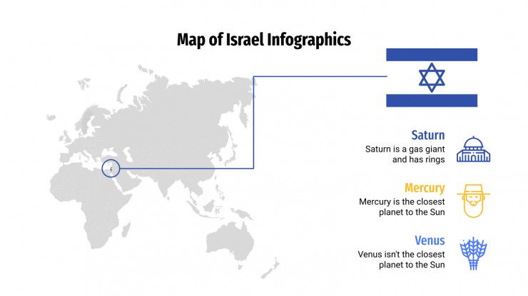 Map of Israel Infographics presentation template