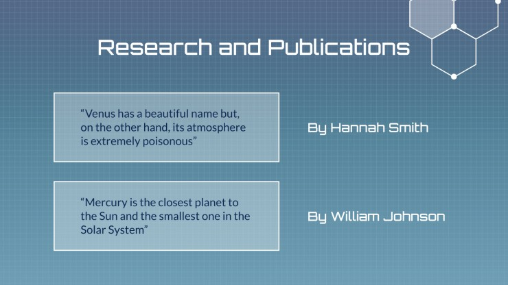 New Discoveries & Breakthroughs presentation template