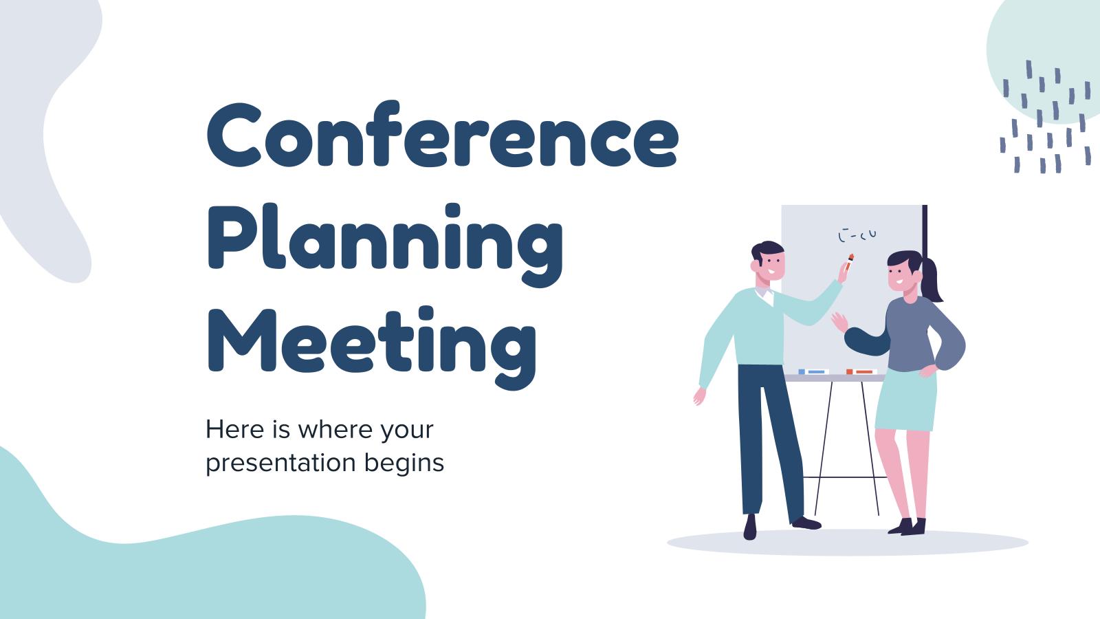 Modelo de apresentação Reunião de planejamento de conferência