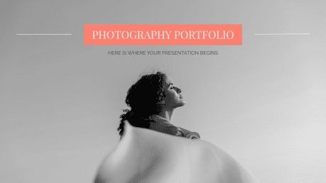 Plantilla de presentación Portafolio de fotografía