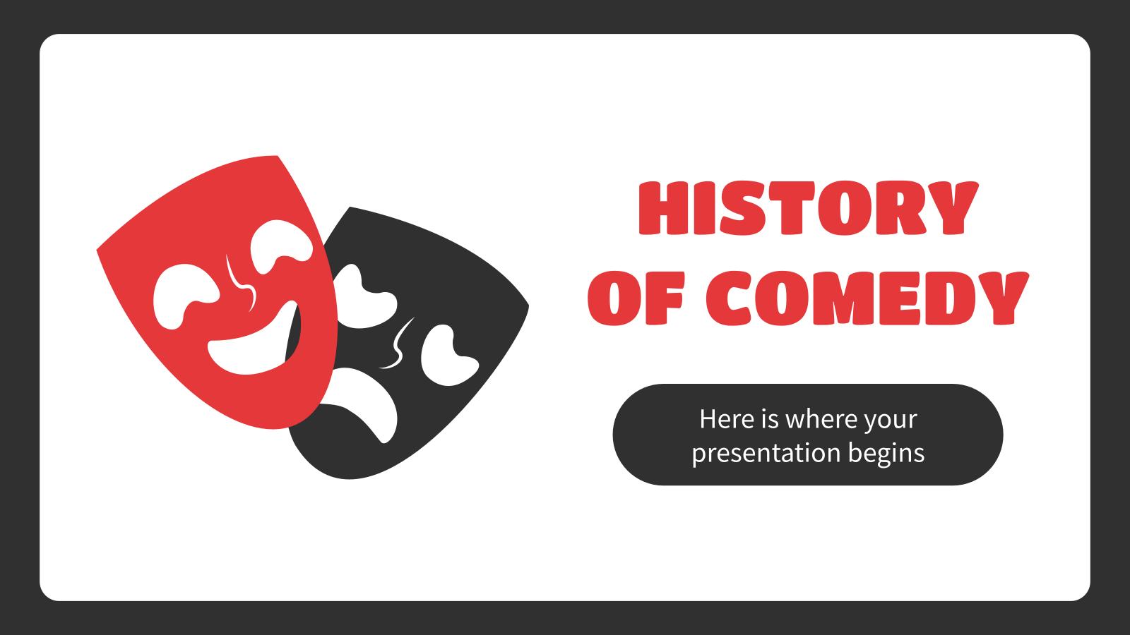 Plantilla de presentación Clase sobre la historia de la comedia