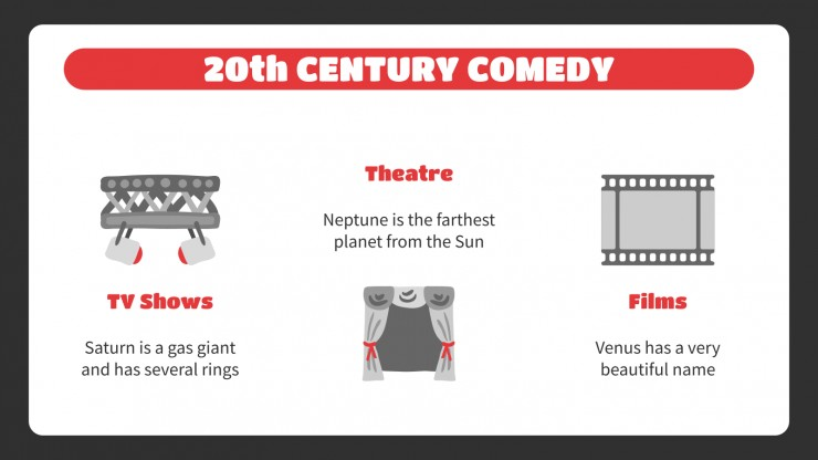 History of Comedy Lesson presentation template