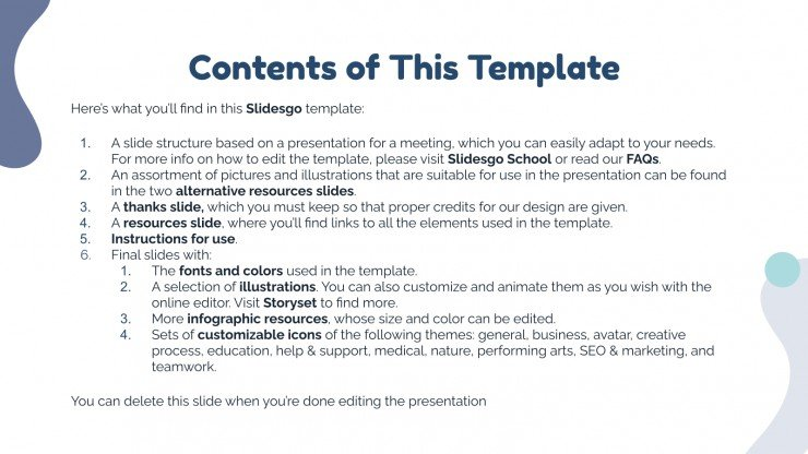 Conference Planning Meeting presentation template