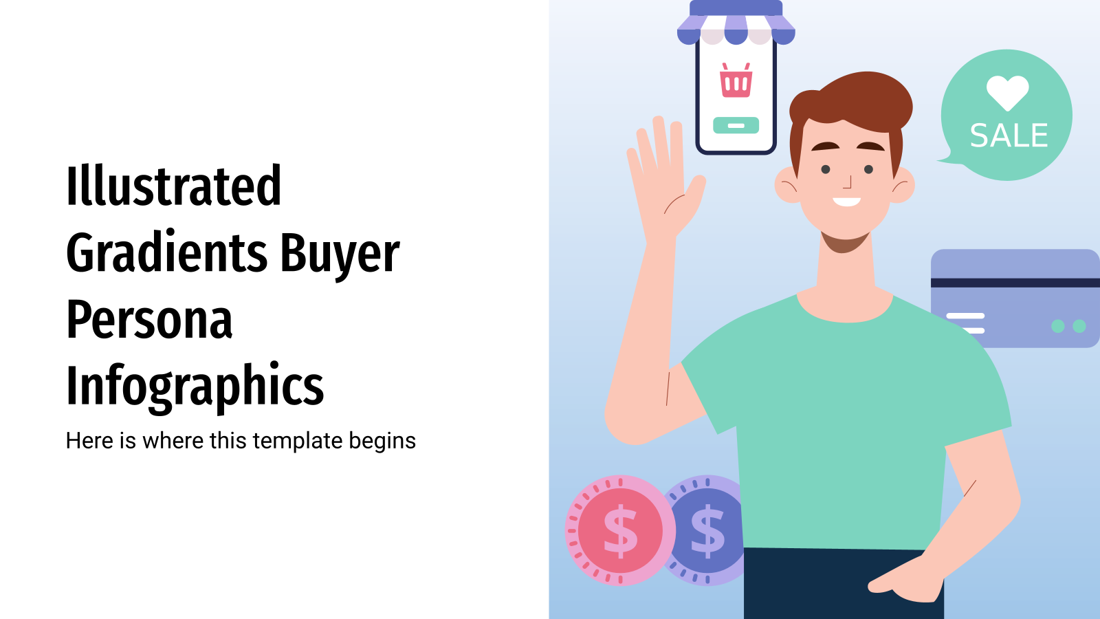 Illustrated Gradients Buyer Persona Infographics presentation template