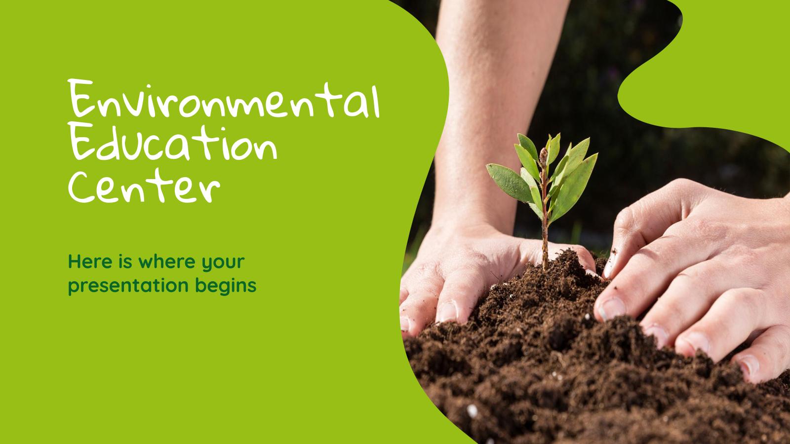 Modelo de apresentação Educação ambiental