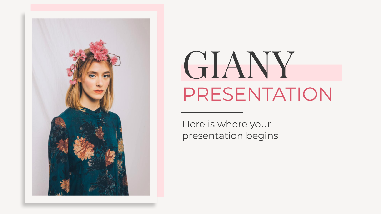 Giany : Modèles de présentation