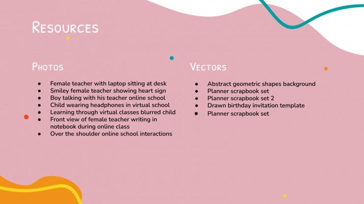 Virtual Classroom Meetings presentation template