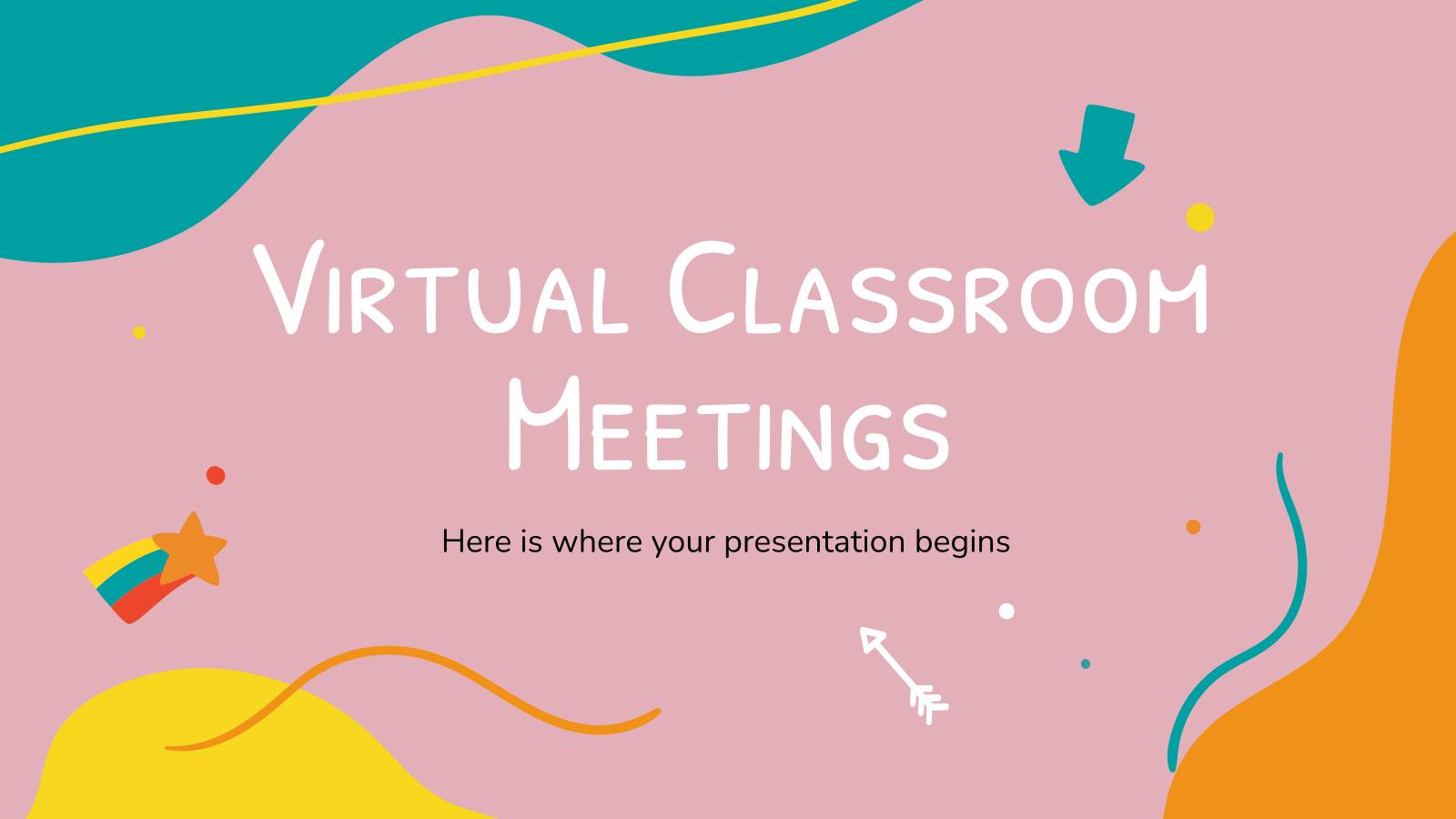 Modelo de apresentação Reuniões de aula virtual