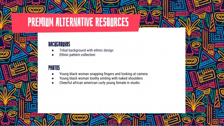 Ethnic Pattern presentation template