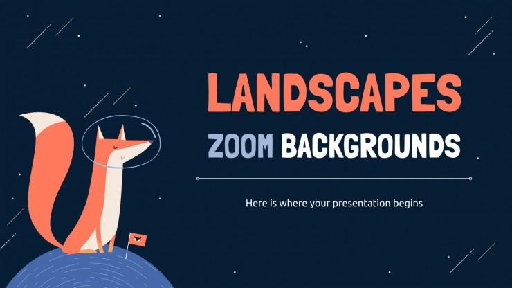Modelo de apresentação Paisagens: planos de fundo para Zoom