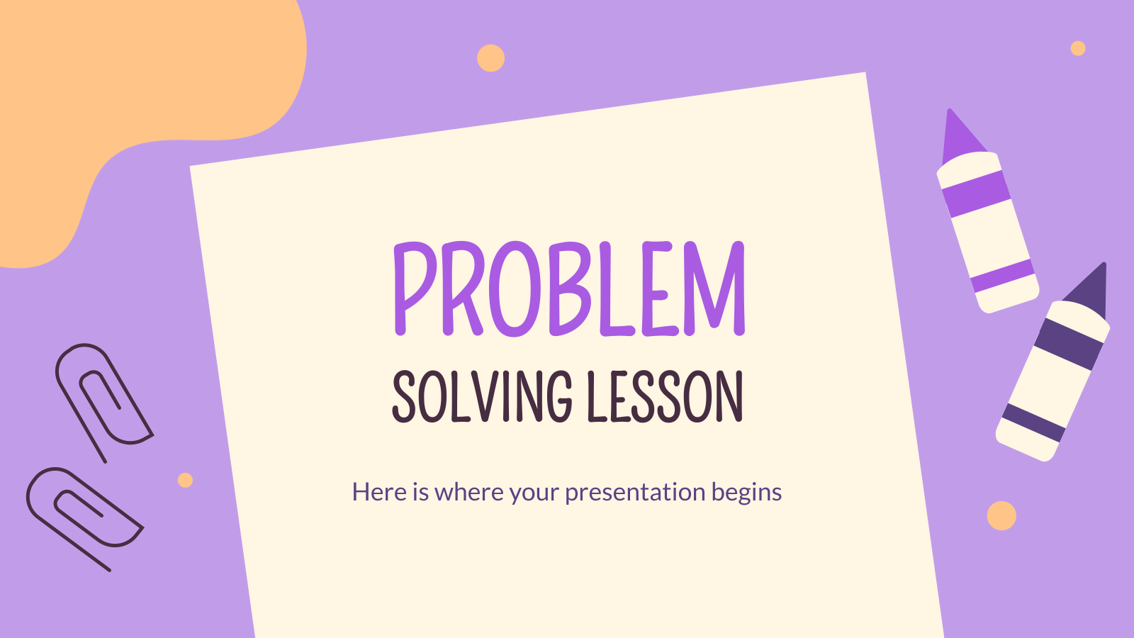 Cours sur la résolution de problèmes : Modèles de présentation