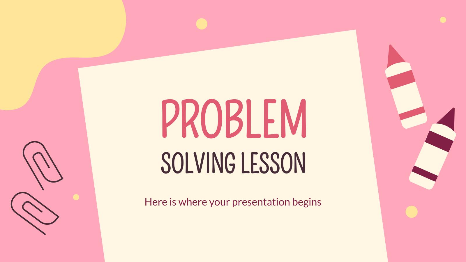 Plantilla de presentación Lección básica