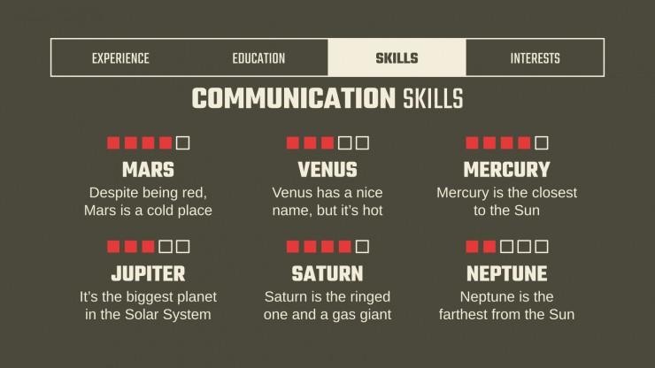 Alternative Resume for Business presentation template