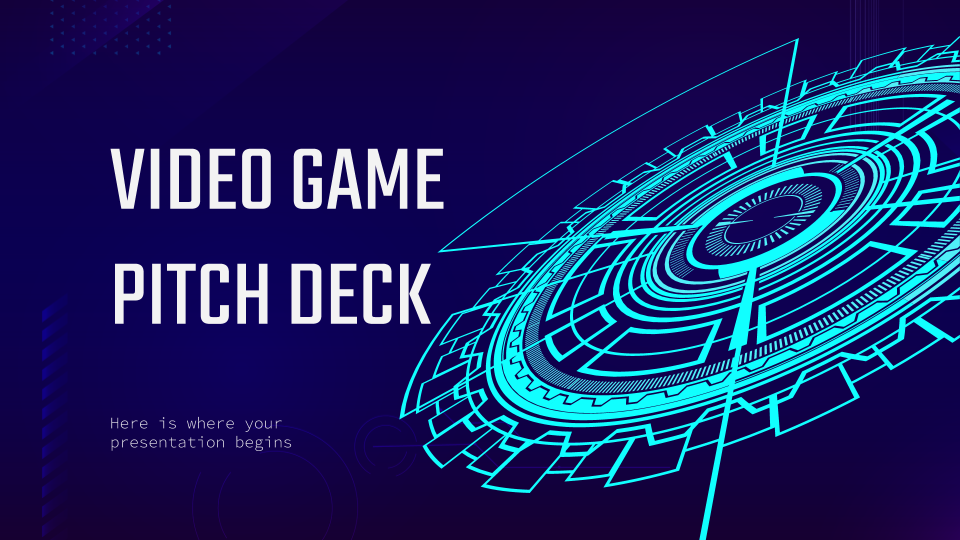 Video Game Pitch Deck presentation template