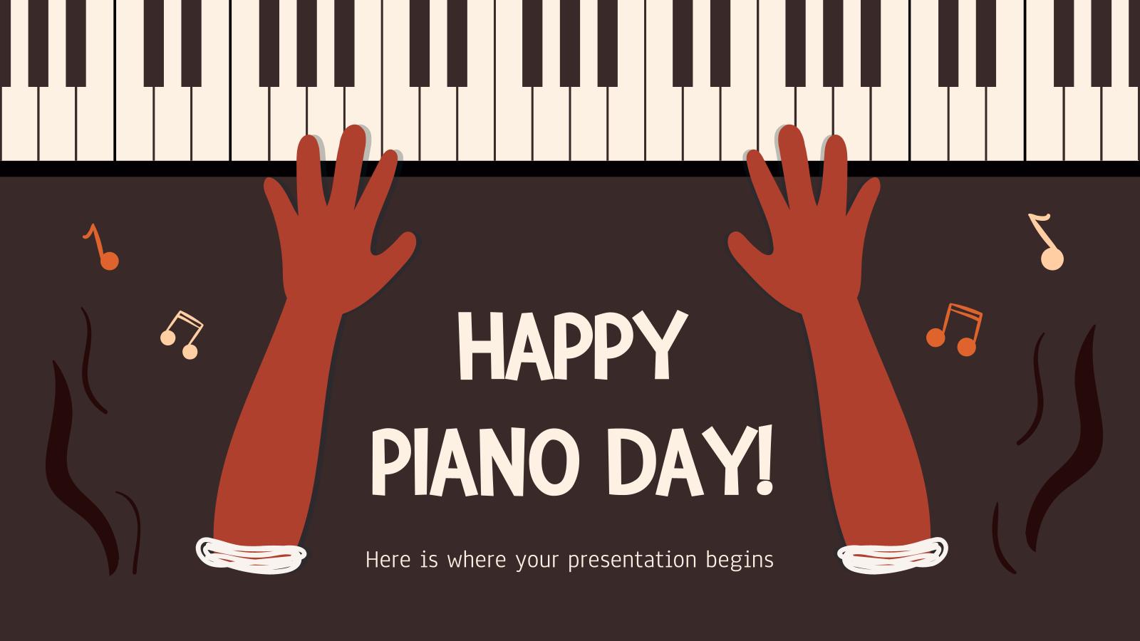Plantilla de presentación ¡Feliz Día del Piano!